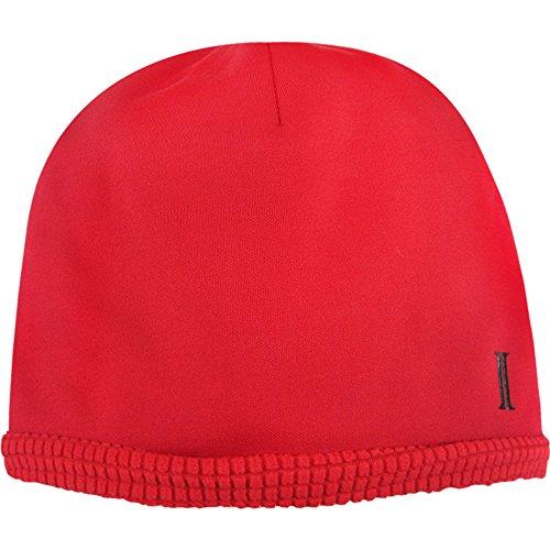 Igloos Boys Reversible Grid Fleece Beanie, True Red, Medium/