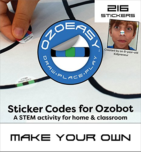 Ozoeasy Sticker Codes (Make Your Own Pack) for use with Ozobot