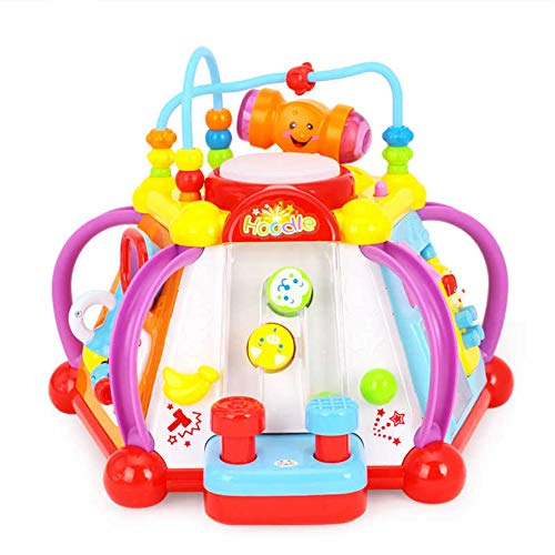 toytykes Musical Activity Cube Learning Toy | Comes with Lights and Sounds | Educational Game Play Center | Best Gift for Children | Different Functions to Learn | Ultimate Fun for Kids