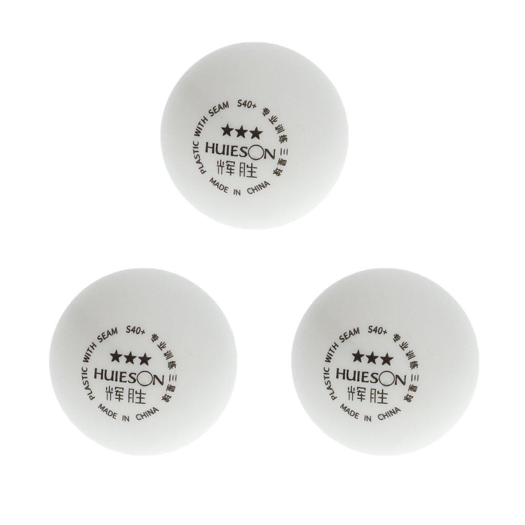 Sharplace Tischtennisbälle 3er, Ping Pong Bälle 120er, Plastik Ping Pong Bälle 120er