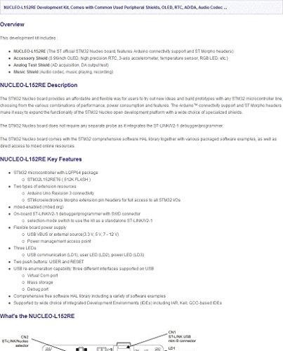 Wavesahre STM32 Nucleo development Board NUCLEO-L152RE Development