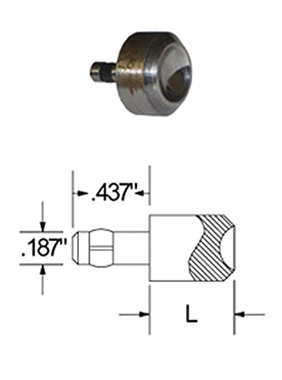 Squeezer DIE for Round Head Rivets with A .625 Head Diameter 1 Height.187 Shank Diameter.437 Shank Length