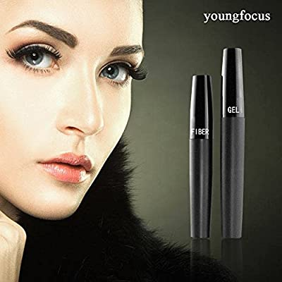 Youngfocus 3d fiber lash mascara-with fiber mascara 3d mascara thickening lengthening natural non-toxic smudge proof & hypoallergenic ingredients