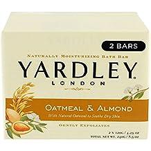 Yardley London Oatmeal and Almond Bar Soap for Unisex, 2 X 4.25 Ounce