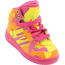 adidas Jeremy Scott Kids Shoes Sneakers Hi Neon Lime Slime/Vivid Yellow G95752