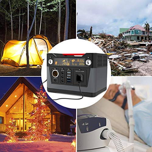 ROCKPALS 300W Portable Generator Lithium Portable Power Station, 280Wh CPAP Backup Battery Pack UPS Power Supply 110V AC Outlet, QC3.0 USB, 12V/24V DC, LED Flashlight for Camping, Home, Emergency by ROCKPALS (Image #6)