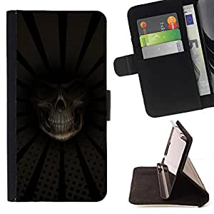BETTY - FOR Samsung Galaxy Note 3 III - Grim Reaper Death Close Up - Style PU Leather Case Wallet Flip Stand Flap Closure Cover