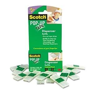 Amazon.com : Scotch Pop-Up Tape Strips 19mm X 50mm, 12