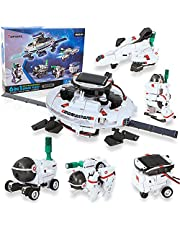 Tomons STEM Toys 6-in-1 Solar Robot Kit Learning Science Building Toys Educational Science Kits Powered by Solar Robot for Kids 8 9 10-12 Year Old Boys Girls Gifts