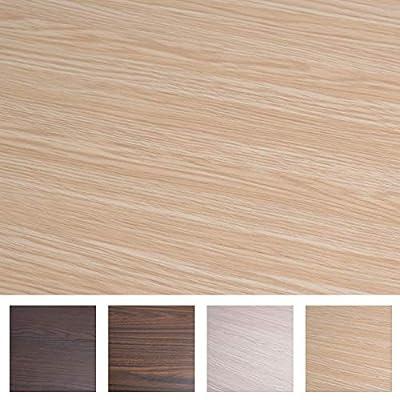 "Art3d 17.7""x78.7"" Peel and Stick Wallpaper - Decorative Self Adhesive Vinyl Film Wood Grain Wallpaper for Furniture Cabinet Countertop Shelf Paper, Beech"