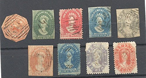 LOT OF STAMPS FROM TASMANIA, VERY SCARSE