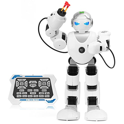 Zooawa Remote Control Alpha Robot, Intelligent Programmable Humanoid RC Toy for Kids - White ()