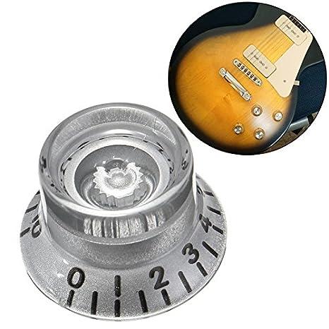 VIDOO Botones De Velocidad 1Pc Plata Guitarra Eléctrica Plástico Volumen Voz para Les Paul Guitarra: Amazon.es: Hogar