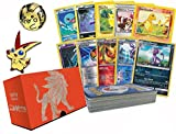 Pokemon 50 Card Lot Featuring 10 Foils! Pokemon Collectible Coin and Pin! Comes Packed inside of An empty Elite Trainer Box! Great for Storage!