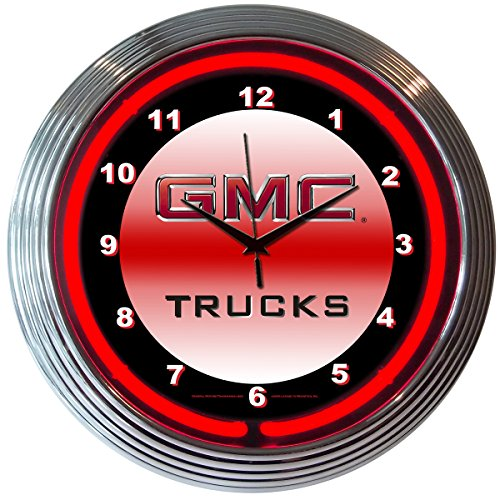 Neonetics Bar and Game Room GMC Trucks Neon Wall Clock, 15-Inch