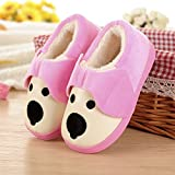 Aemember The Children Of Wool And Cotton Slippers With Waterproof Leather Bag And Baby Winter Indoor Home Furnishing Thick Non Slip Bottom Warm,15 Yards
