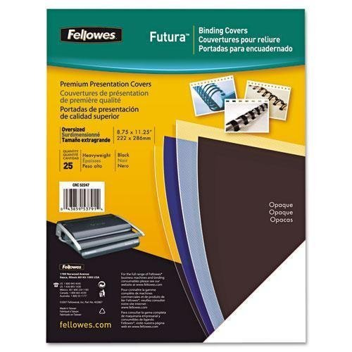 FEL5224901 - Fellowes Futura Presentation Covers - Letter, Black, 25 pack by Fellowes (Futura Cover)