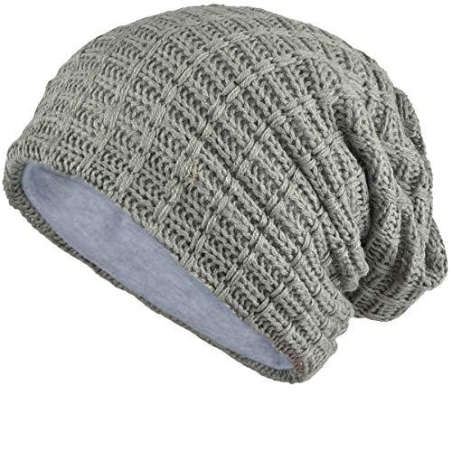 - FORBUSITE Slouch Beanie Hats for Men Winter Summer Oversized Baggy Skull Cap (Light Gray)