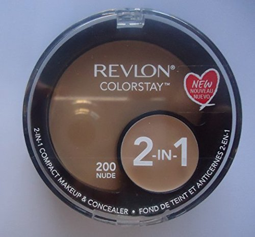 Revlon ColorStay 2-in-1 Compact Makeup & Concealer, 200 Nude (Pack of 2)