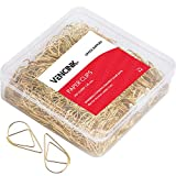300 Premium Cute Paper Clips Gold Smooth Stainless Steel Wire Small Paper Clips for Office Supplies Girls Kids School Students Paper Document Organizing with Storage Box by VENCINK (1 inch)