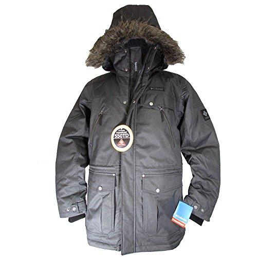 - Columbia Mens Barlow Pass 550 TurboDown Jacket, Black, XL