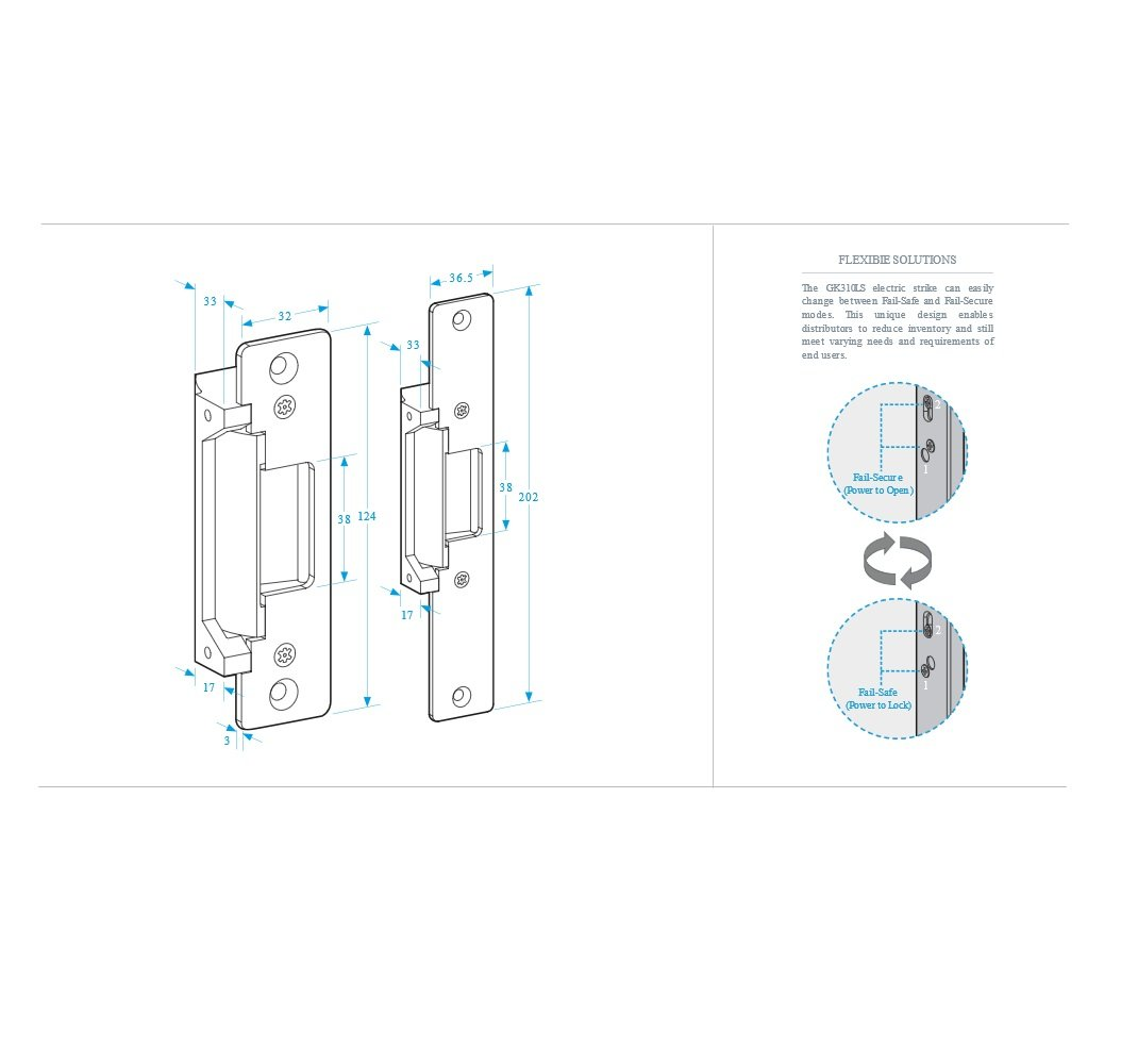 Amalocks Gk310ls 24 Electric Lock Release For Door Access Control Gm Turn Signal Switch Wiring Diagram Lzk Gallery Systems 24vdc Diy Tools