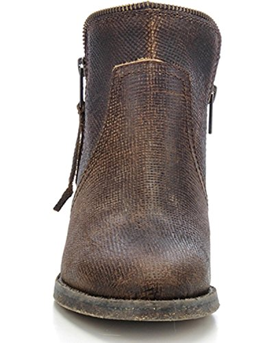Fringe Corral Leather Cowboy Brown up Urban Boots Brown Shortie Women's Back Zip 0wtqxAztrg