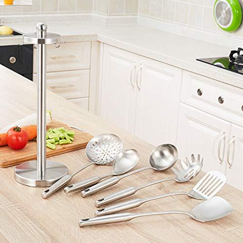 CFXZM Kitchen Shelf, Cooking Utensils Storage Rack 304 Stainless Steel Shovel Soup Spoon Colander 7-Piece Set by CFXZM (Image #4)