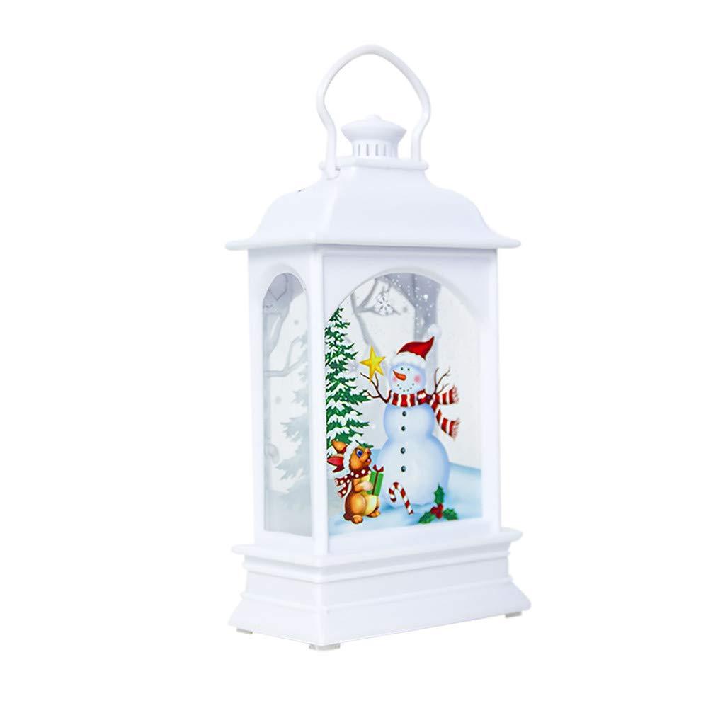 Farol Decorativo navide/ño Meclelin Funciona con Pilas