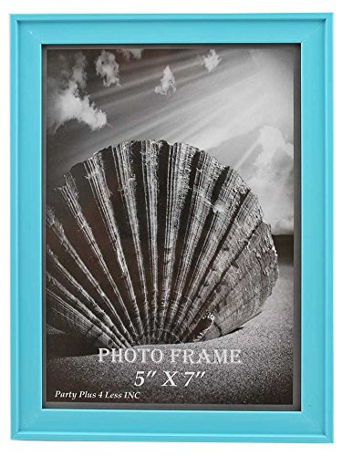 """Turquoise Blue Plastic 5"""" x 7"""" Picture Frame"""