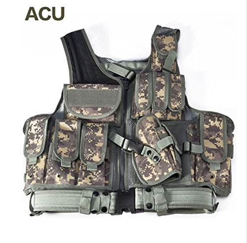 Acu Body Armor - Tactical Vest Camouflage Military Combat Body Armor Sports Wear Hunting Army Swat (ACU)