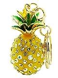 Libaraba Cute Drop Glaze and Rhinestone Inlaid Pineapple Keychain Birthday Gift Car Key Pendant