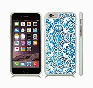 Case Cover For SamSung Galaxy Note 2 with Blue and White Tile Pattern, Saturated Photo Snap-on Cover, Hard Carrying Case (White)