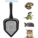 Bestmemories Cat Scooper Fine Sand Sifter Kitty Litter Scoop Sifter Kitty Litter Shovel Pointed End Cat Litter Scoop Pet Reptile Terrarium Bedding Litter Cleaner Corner Scoop Pet Poop Net Shovel Kit