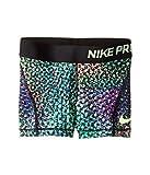 Nike Pro Cool Big Kids' (Girls') 3' Training Shorts (Large, Stadium Green (830714-324) / Black/Ghost Green)