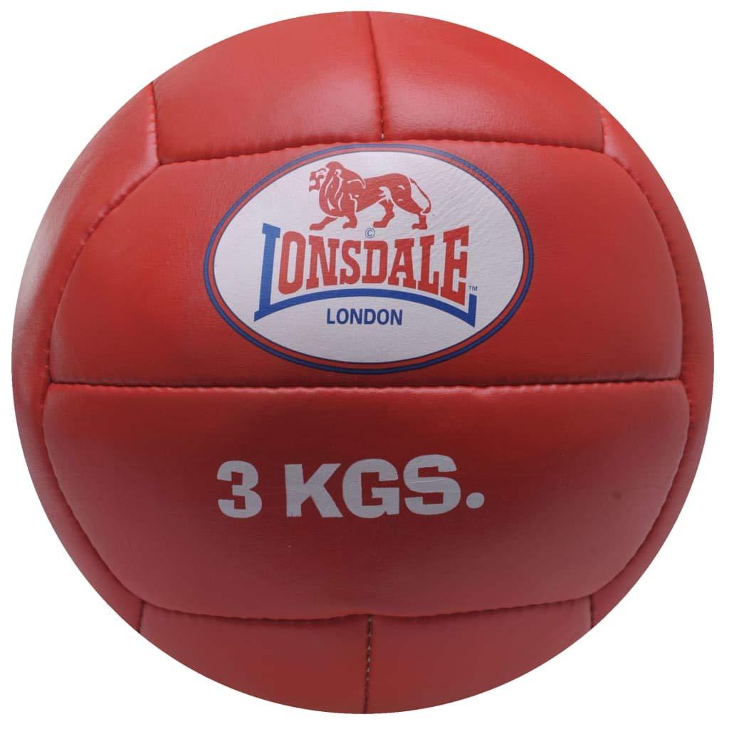 Lonsdale Medicine - Balón Medicinal, Color Rojo, Talla 3 kg ...