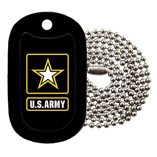 (Tag-Z Military Dog Tags - U.S. Army Logo Dog Tag Necklace)
