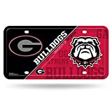 NCAA Georgia Bulldogs Metal Auto Tag