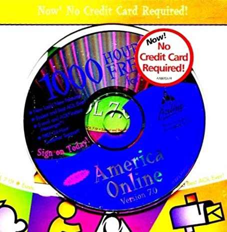 aol 70 1000 hours free america online new look brand new