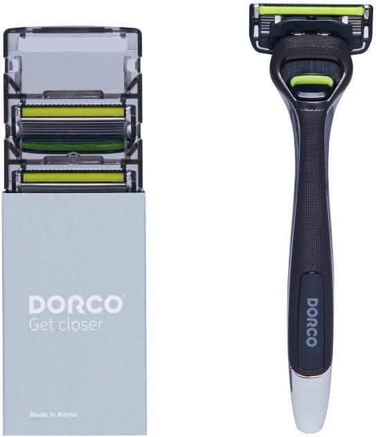 Maquinilla de afeitar Dorco Pace 6 Pro para hombres: Diseño ...