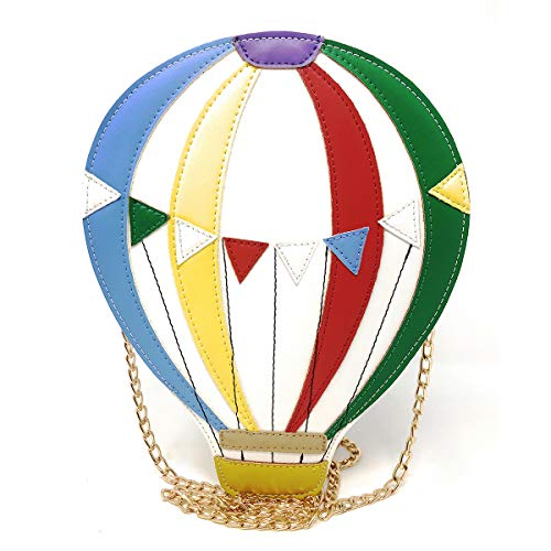 Balloon Shape Colorful Novelty Crossbody Bag, Ustyle Girl Women Cute Shopping School Fashion Chain Shoulder Bag -