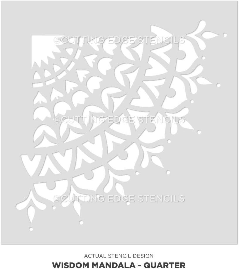 Wisdom Mandala Stencil für Walls &Ndash; Wall Stencil Mandala &Ndash; Reusable Stencil Better als Mandala Decal &Ndash; Laser Schnitt Mandala Template für Painting &Ndash; Mandala Painting Stencil für Easy DÉCor (18 Inches)