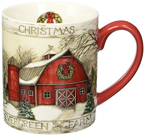 Lang Evergreen Farm Mug by Susan Winget, 14 oz, -