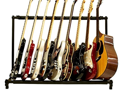 FireKingdom Glarry 9 Triple Folding Multiple Guitar Rack Storage