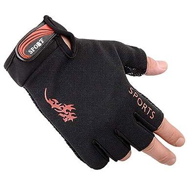 Elegdy Men Gloves Running Half Finger Gloves Riding Driving Outdoor Gloves