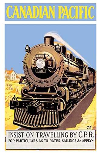 - Canadian Pacific - Insist on Traveling by C.P.R. Fine Art Canvas Print (20