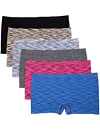 6 Pack Nylon Spandex Plus Size Hipster Boy Short Panties