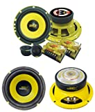 2) PYLE PLG6C 6.5'' 400W 2 Way Car Component+ 2) 6.5'' 600W Subwoofer Sub Speakers