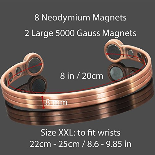 Magnetic Bracelets Arthritis Therapy XXL HPH