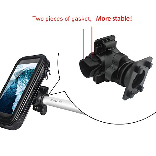 Bike Mount,Universal Cell Phone Bicycle Handlebar & Motorcycle Holder Cradle with 360 Rotate waterproof case for iPhone 6/ 6S Plus 7 Plus &Other 5.5 & 4.7 inch smart phones